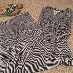 Max Studio striped maxi dress XS